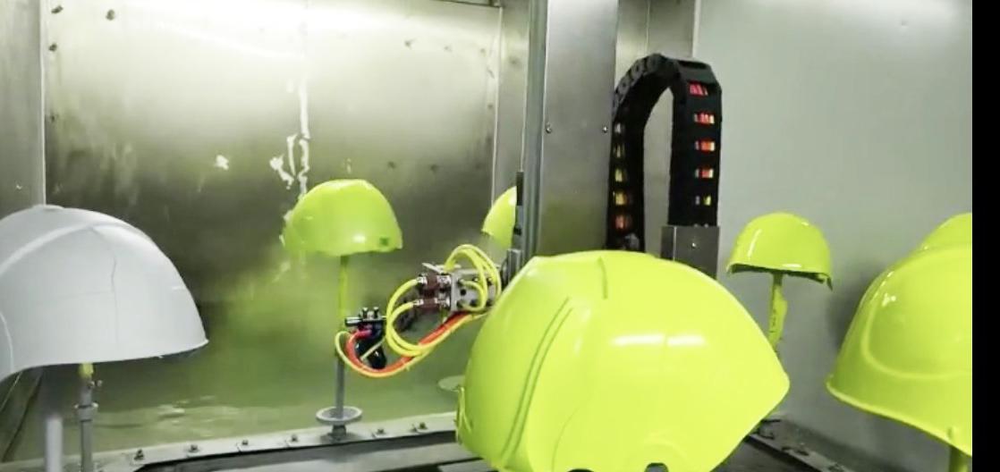 Máy sơn mũ bảo hiểm tự động - Hùng Vương CNC