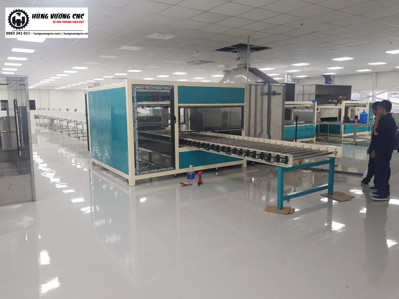 hệ thống sơn sấy tự động tại BUMJIN - Hàn Quốc